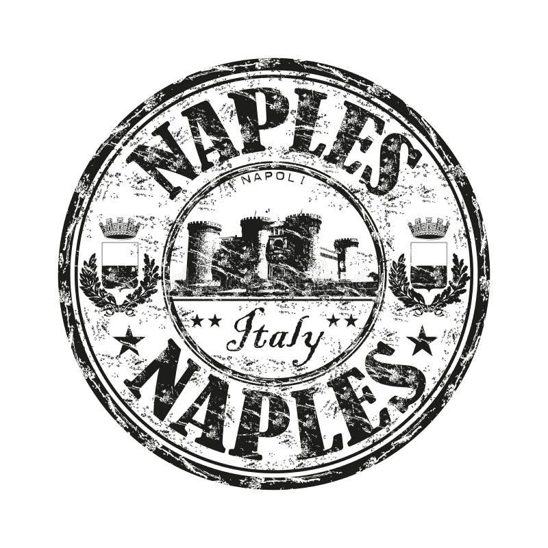 Rubber stämpel för Naples grunge vektor illustrationer