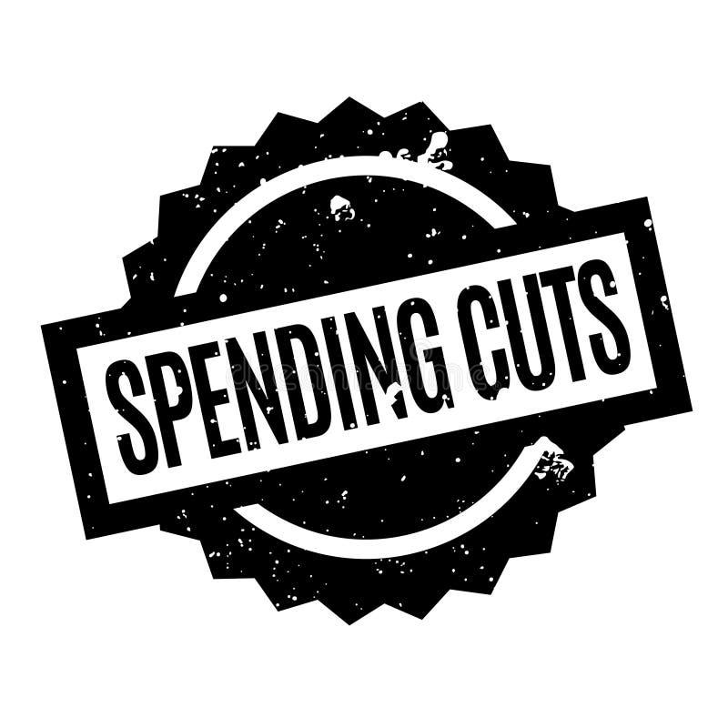 Rubber stämpel för nedskärningar av utgifter royaltyfri illustrationer