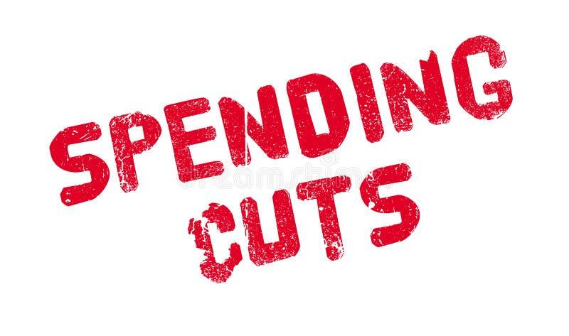 Rubber stämpel för nedskärningar av utgifter stock illustrationer