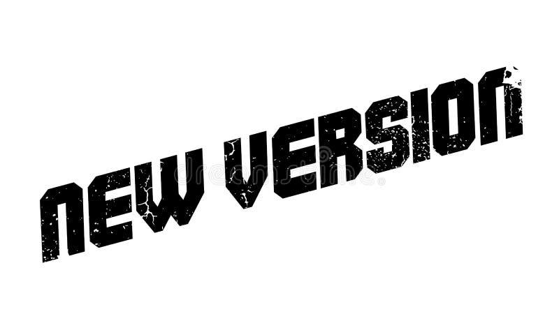 Rubber stämpel för ny version stock illustrationer