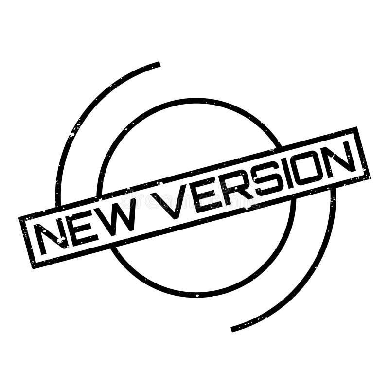 Rubber stämpel för ny version royaltyfri illustrationer