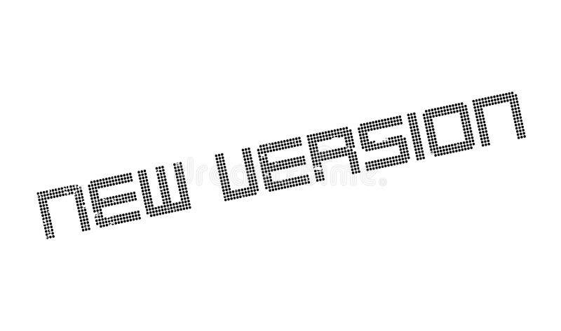 Rubber stämpel för ny version vektor illustrationer
