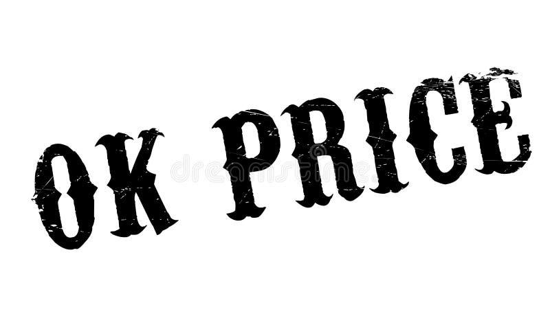 Rubber stämpel för ok pris royaltyfri bild