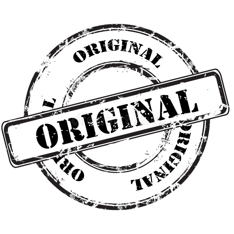 Rubber stämpel för originell grunge stock illustrationer