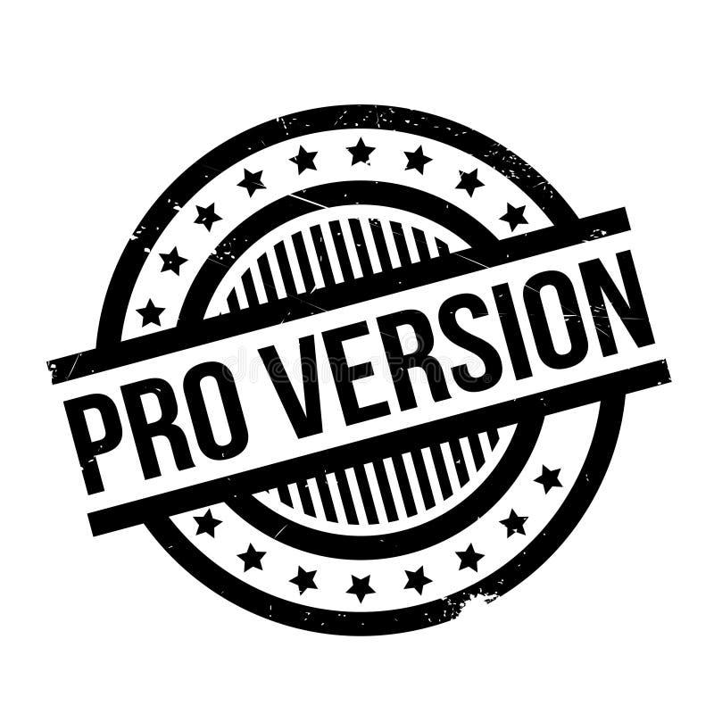 Rubber stämpel för pro-version stock illustrationer