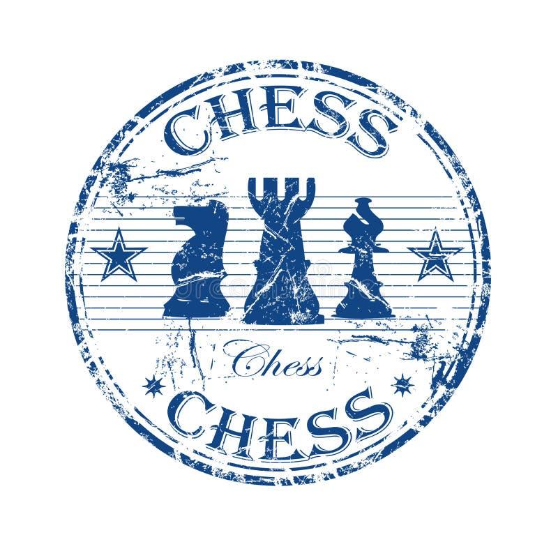 rubber stämpel för schack stock illustrationer