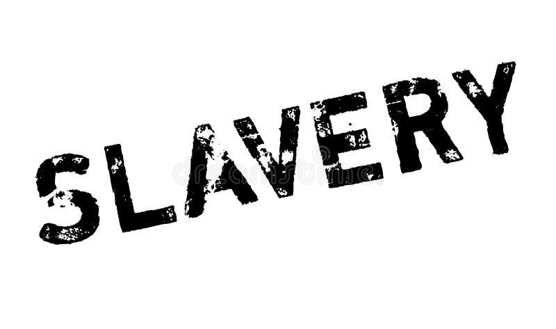 Rubber stämpel för slaveri vektor illustrationer