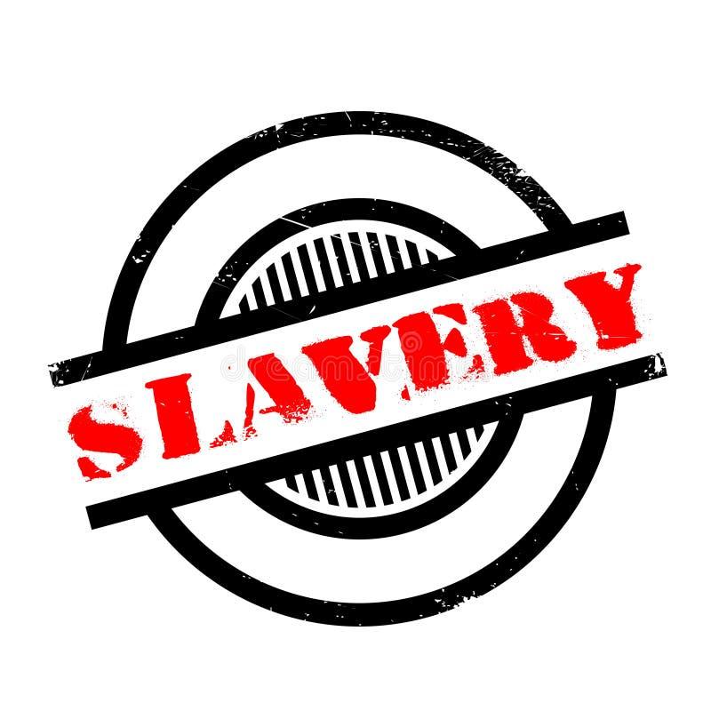 Rubber stämpel för slaveri stock illustrationer