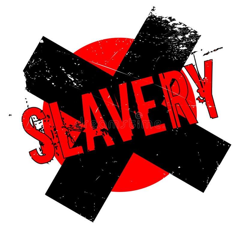 Rubber stämpel för slaveri royaltyfri illustrationer