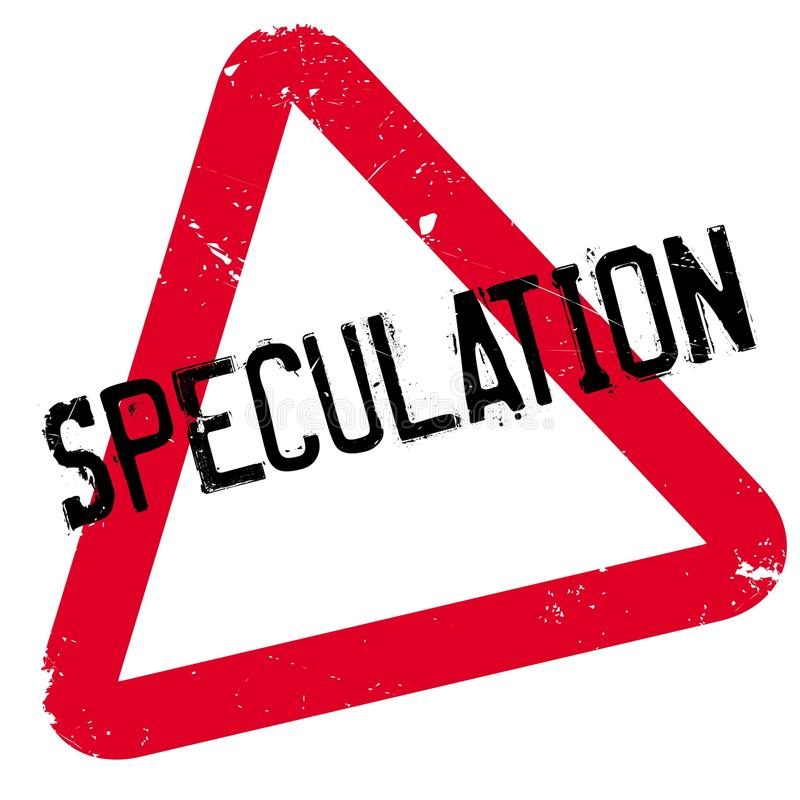 Rubber stämpel för spekulation royaltyfri illustrationer