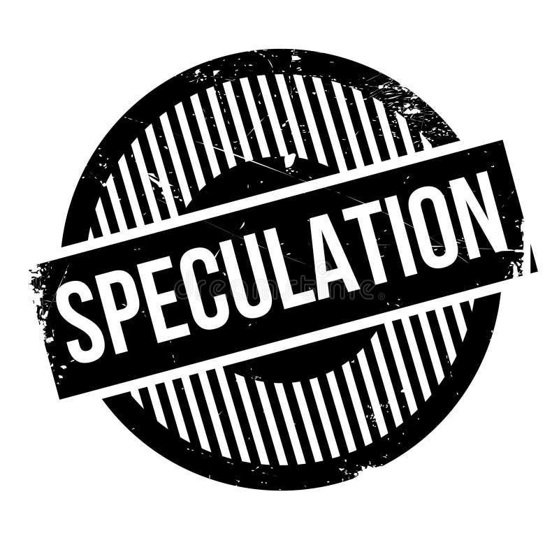 Rubber stämpel för spekulation stock illustrationer