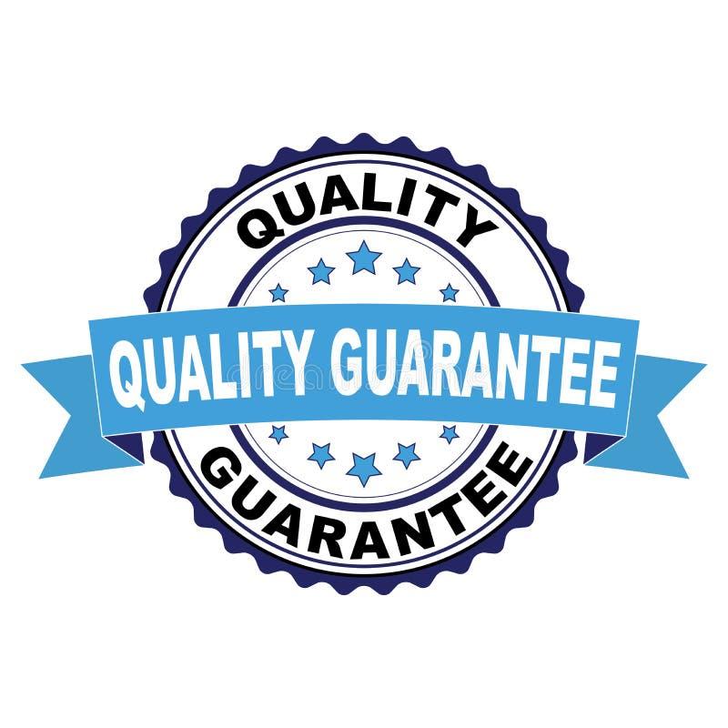 Rubber stämpel med begrepp för kvalitets- garanti stock illustrationer