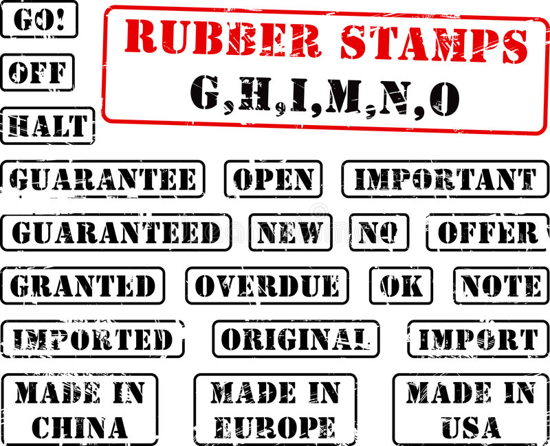 Download Rubber Stamp Collection GHIMNO Stock Vector - Illustration of united, china: 2768834