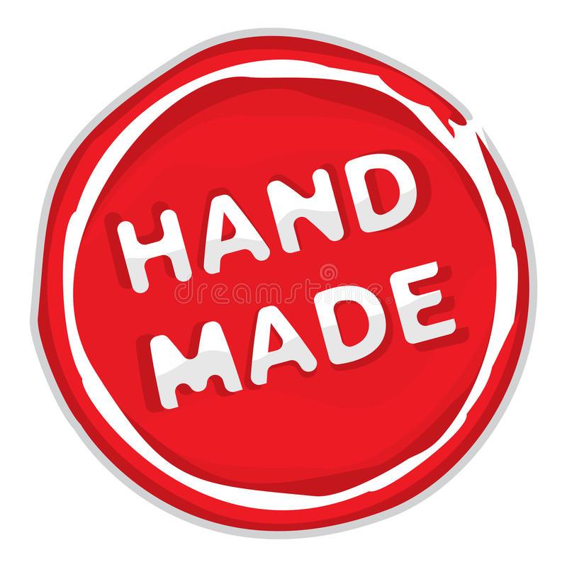 Rubber stamp hand made stock illustration