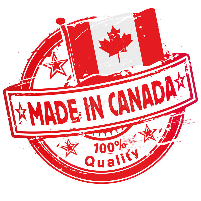 Rubber stamp made in Canada royalty free illustration