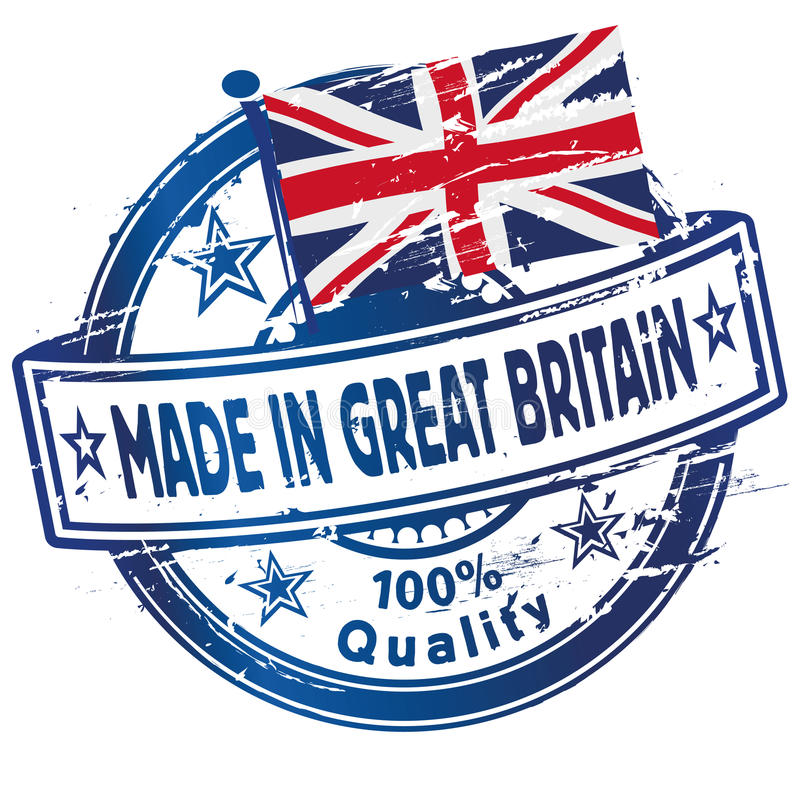 Rubber stamp made in Great Britain royalty free illustration
