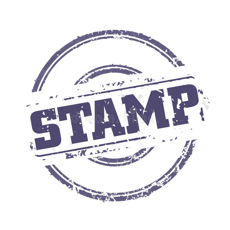 Rubber Stamp Template Stock Vector Illustration Of Aged