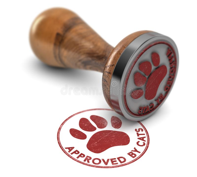 Pet Services Approved By Cats stock illustration
