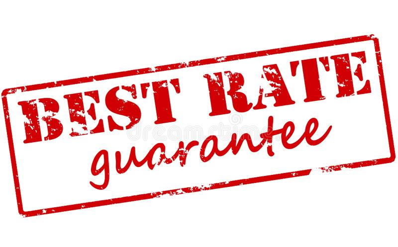 Best rate guarantee. Rubber stamp with text best rate guarantee inside, illustration vector illustration