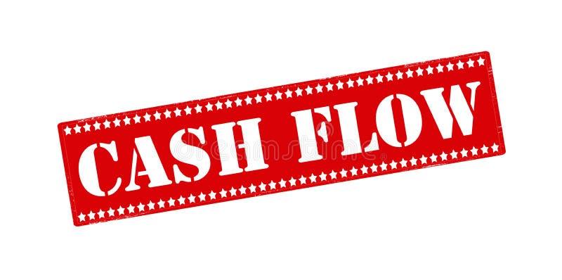 Cash flow. Rubber stamp with text cash flow inside, illustration vector illustration