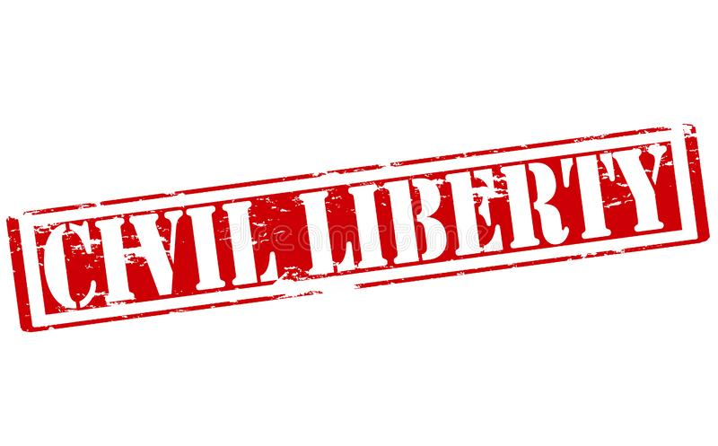Civil liberty. Rubber stamp with text civil liberty inside, illustration vector illustration