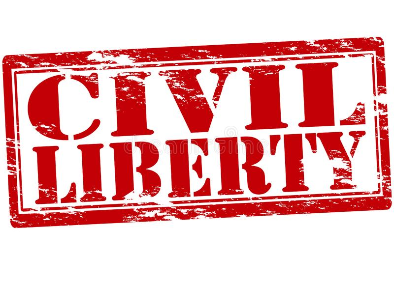 Civil liberty. Rubber stamp with text civil liberty inside, illustration royalty free illustration