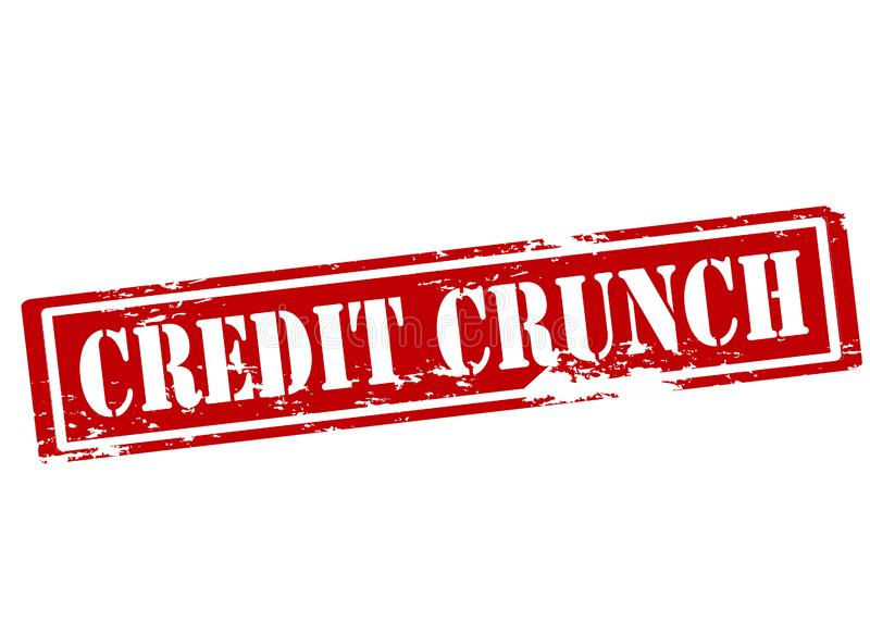 Credit crunch vector illustration