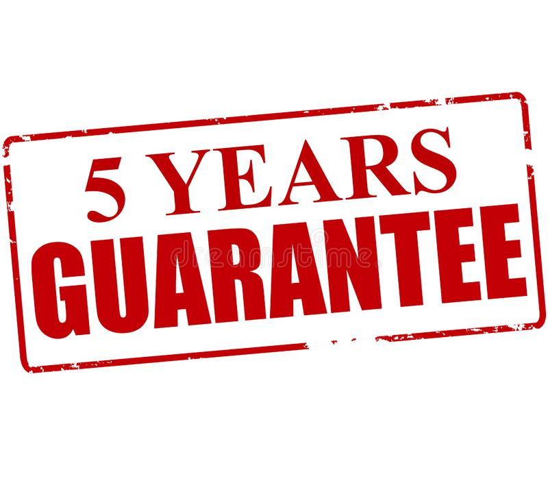 Five years guarantee. Rubber stamp with text five years guarantee inside, illustration royalty free illustration