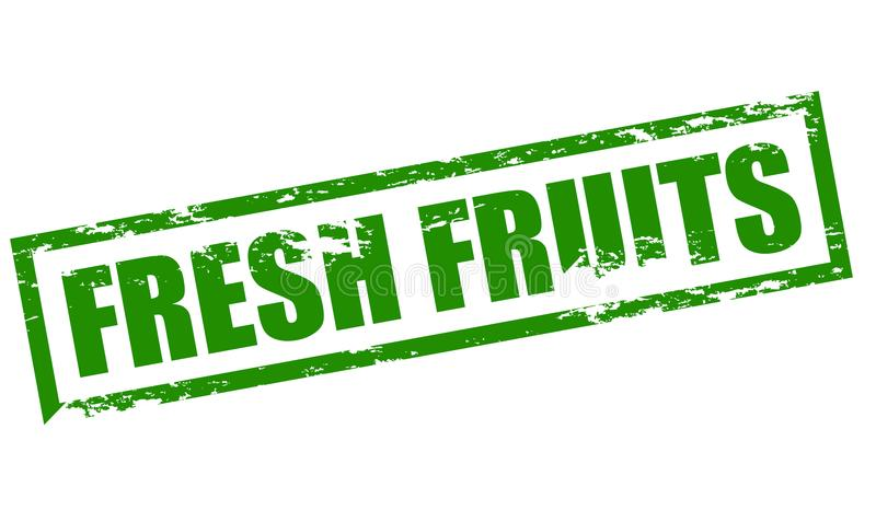 Fresh fruits. Rubber stamp with text fresh fruits inside, illustration stock illustration