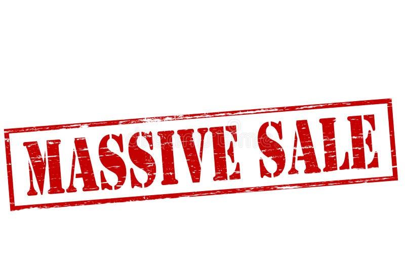 Massive sale. Rubber stamp with text massive sale inside, illustration vector illustration