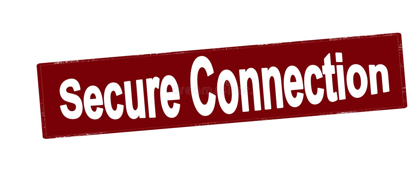 Secure connection vector illustration