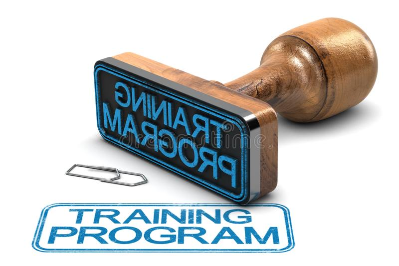 Training Program. Rubber stamp with the text training program over white background. 3D illustration royalty free illustration