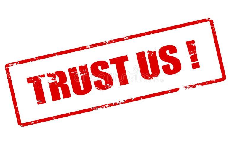 Trust us royalty free illustration
