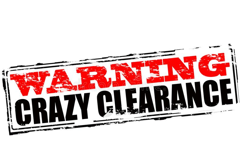 Warning crazy clearance. Rubber stamp with text warning crazy clearance inside, illustration vector illustration