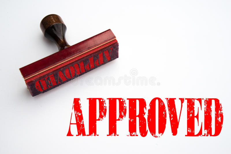 Rubber stamp with the word APPROVED vector illustration