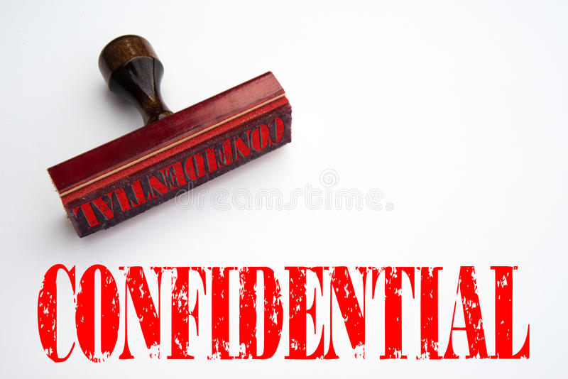 Rubber stamp with the word CONFIDENTIAL vector illustration