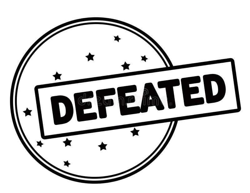 Defeated stock illustration
