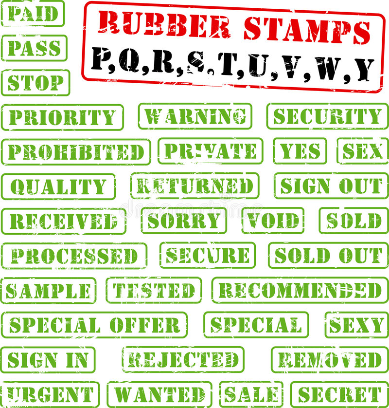 Download Rubber Stamps Collection PQ:WY Stock Vector - Image: 2753526