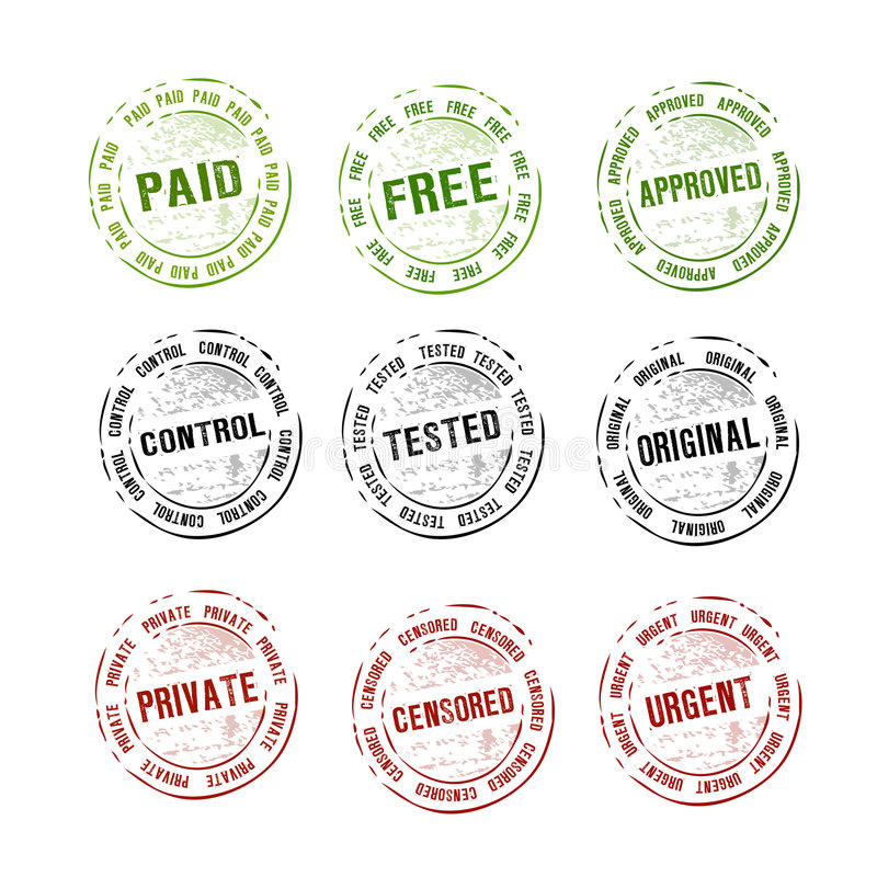 Download Rubber Stamps Collection Vector Stock Vector - Image: 9178773