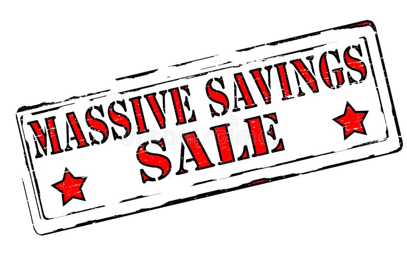 Massive savings. Rubber stamps with text massive savings inside, illustration stock illustration