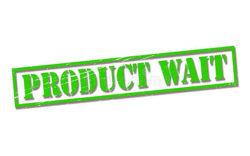 Product wait royalty free illustration