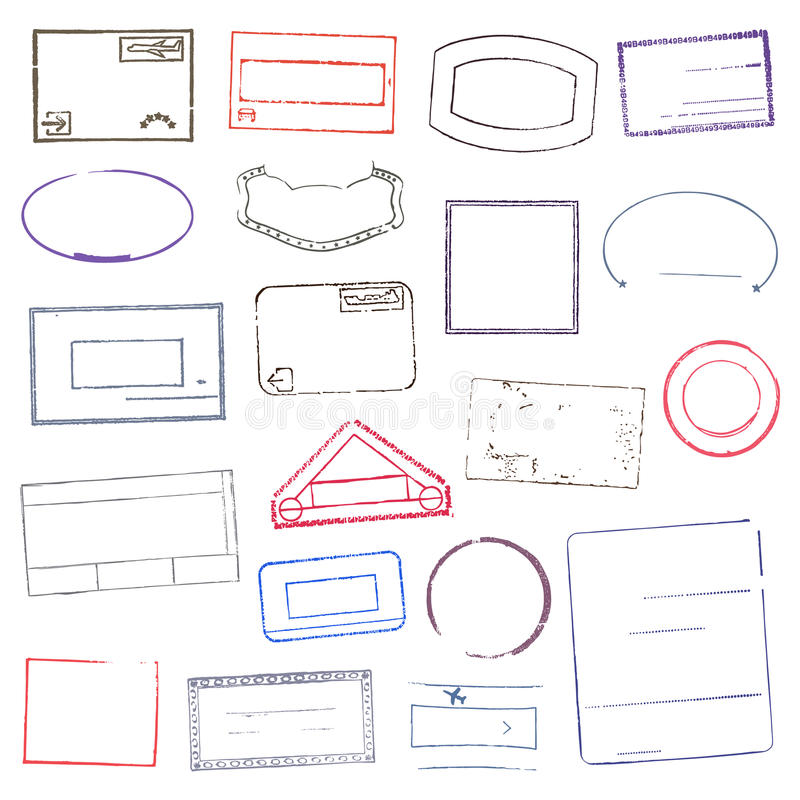 Rubber Stamps. Vector Illustration stock illustration