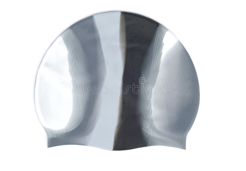 Rubber Swimming Cap stock images