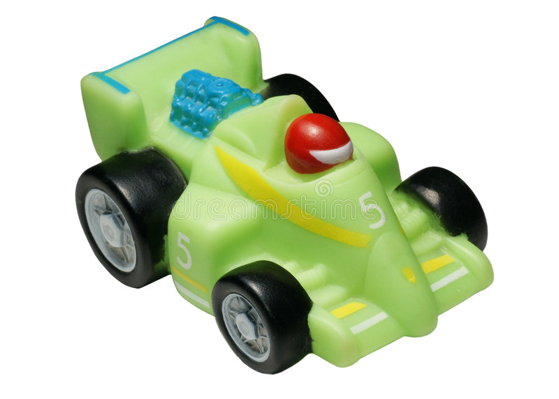 Rubber toy - the racing car stock images