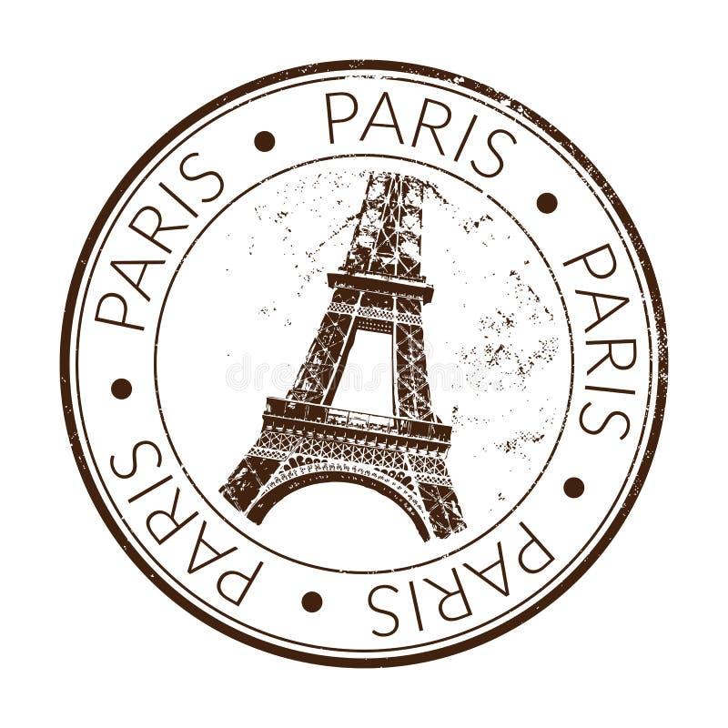 Rubber zegel Parijs stock illustratie