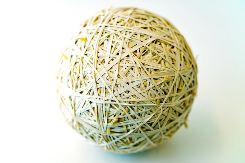 Rubberband-Ball lizenzfreie stockfotografie