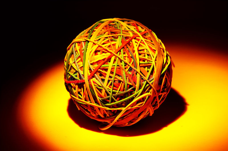 Rubberband Kugel lizenzfreies stockbild