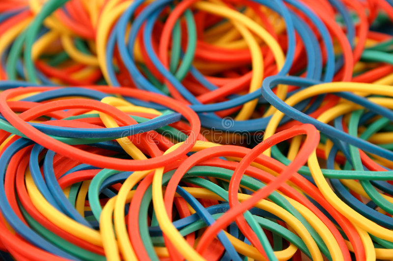 Rubberbands photographie stock libre de droits