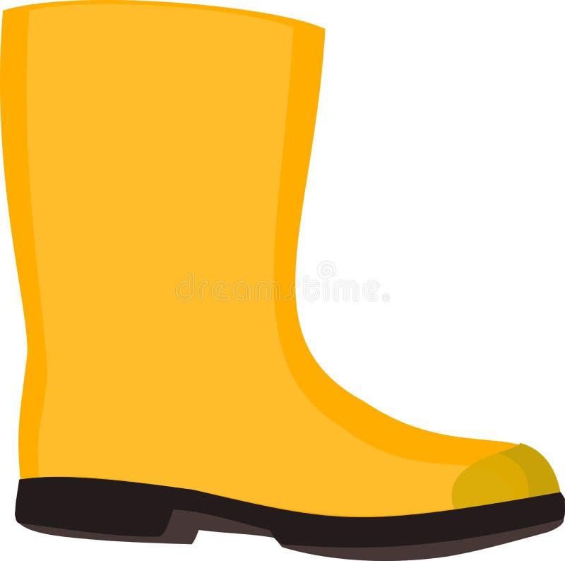 Rubberboot amarillo ilustración del vector