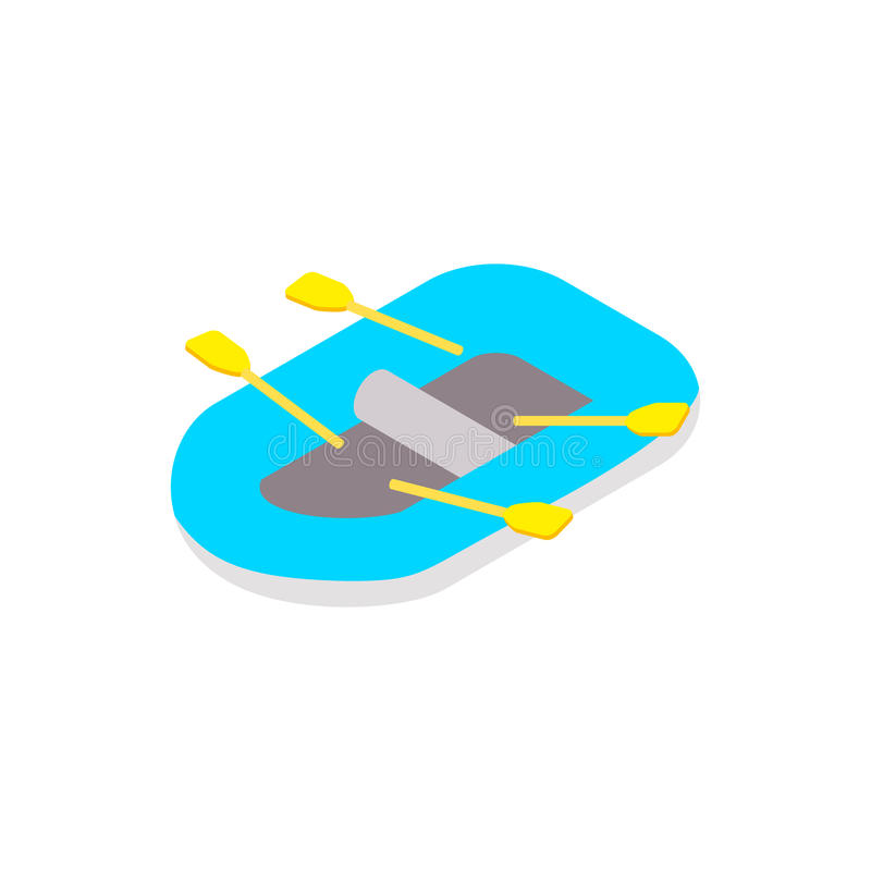 Rubberboot isometrisch 3d pictogram vector illustratie